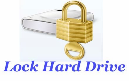 Lock hard drive without software