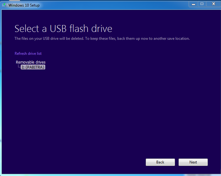 USB-SELECTED